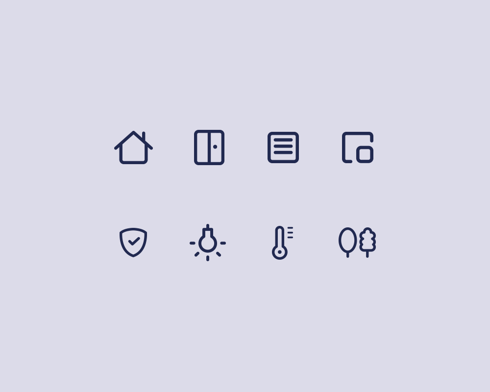 Smart Home App – Icons
